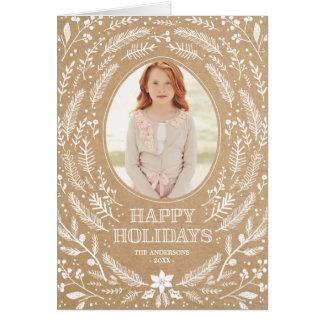 Winter Foliage | Folded Holiday Greeting Card
