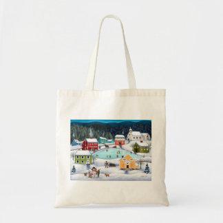 Winter Folk Reusable Shopping Bag