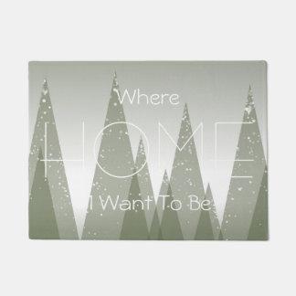 Winter Forest Design Home Welcoming Door Mat