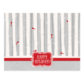 Winter Forest Holiday Postcard