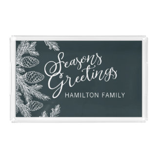 Winter Forest Holiday Tray #holidayZ
