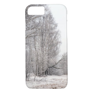 Winter Forest Landscape. Trees Covered in Snow. iPhone 8/7 Case