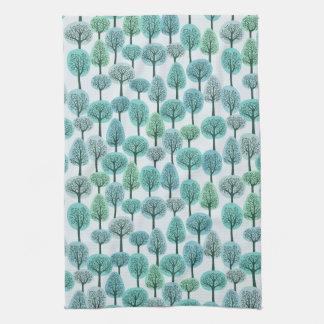 Winter Forest Pattern Kitchen Towel