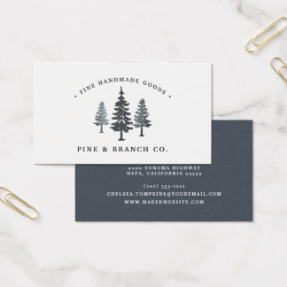 Winter Forest | Pine Tree Logo Business Card