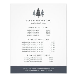 Winter Forest Pricing & Services Flyer