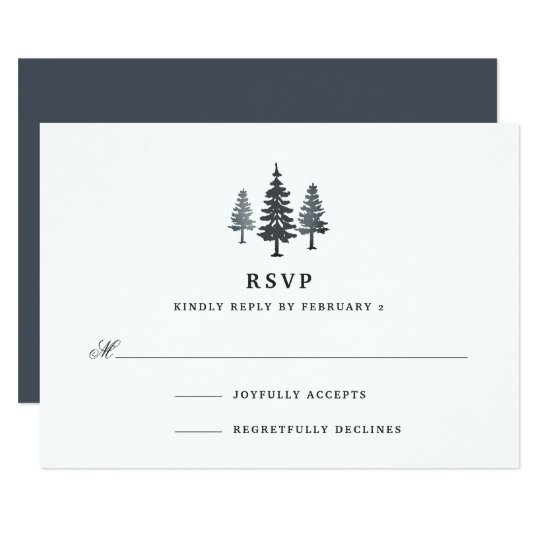 Winter Forest RSVP Card