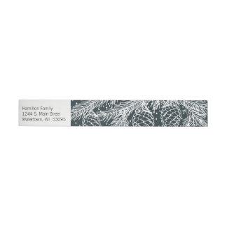 Winter Forest Sketched Address Label Wrap