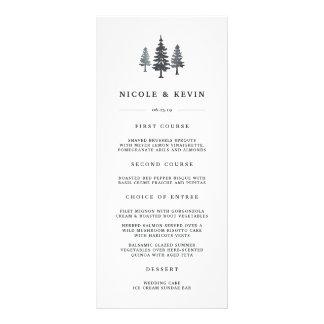 Winter Forest Wedding Menu Card