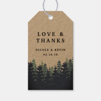 Winter Forest Wedding Thank You Gift Tags
