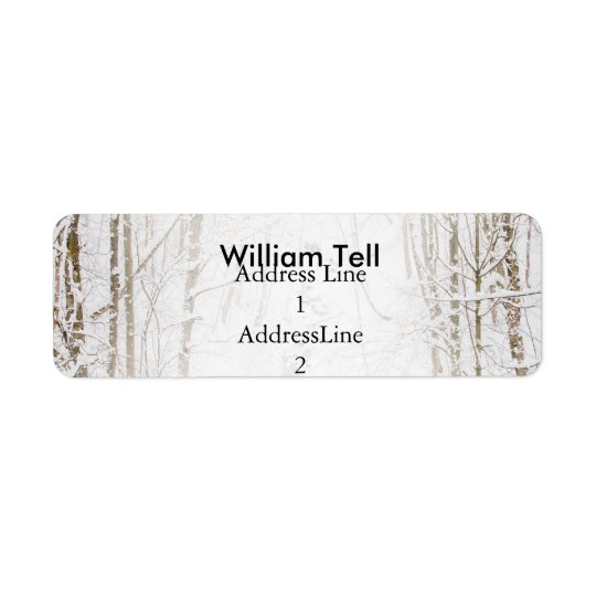 Winter Forest With A Stream Return Address Label