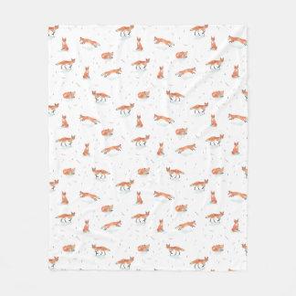 Winter Fox Fleece Blanket