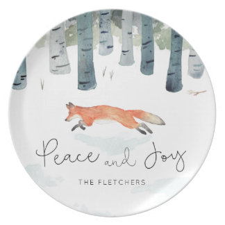 Winter Fox Plate