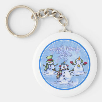 Winter Friends Snowmen Keychain
