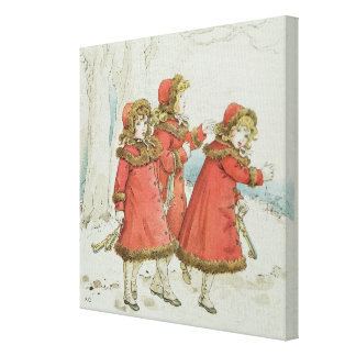 Winter' from April Baby's Book of Tunes, 1900 Canvas Print