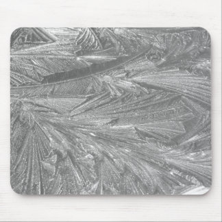 Winter Frost in Black and White Mouse Pad