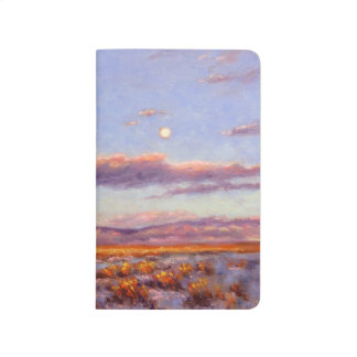 Winter Full Moon at Dusk in Mount Pocket Journal