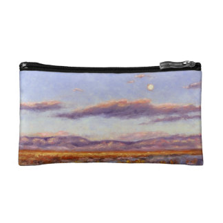 Winter Full Moon at Dusk in Mountains Cosmetic Bag