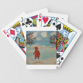 Winter Fun Bicycle Playing Cards