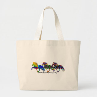 Winter Gallop Large Tote Bag