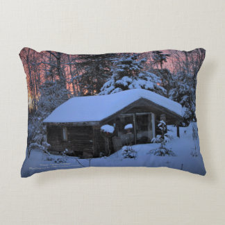 Winter Garden Cottage Decorative Pillow