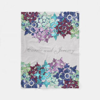 Winter Garden Fleece Blanket