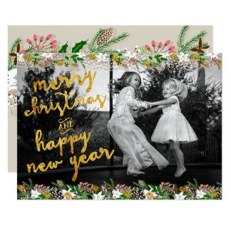 Winter Garland Christmas Card