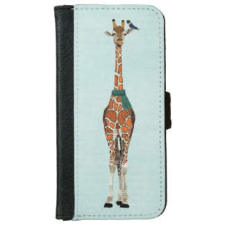 WINTER GIRAFFE & BIRD iPhone 6 WALLET CASE
