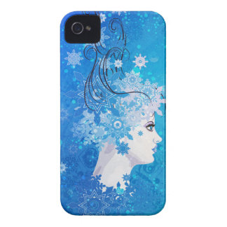 Winter girl illustration iPhone 4 covers