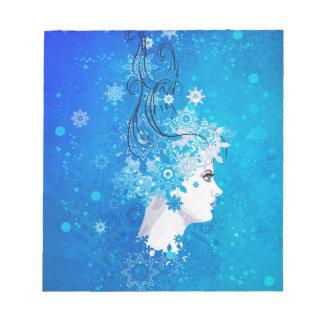 Winter girl illustration notepad