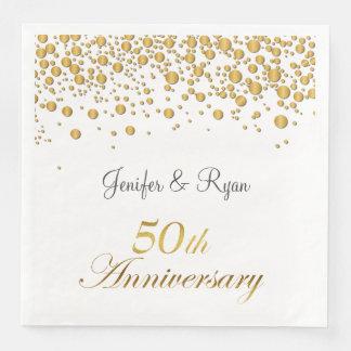 Winter glitter bubbles 50th Anniversary  Napkins Disposable Napkin