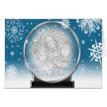 Winter Globe Greeting Card Template
