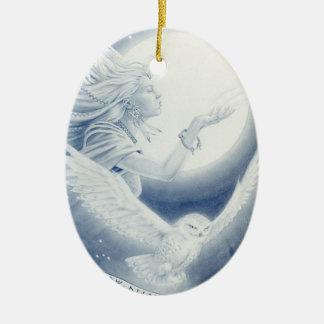 Winter_Goddess Ceramic Ornament
