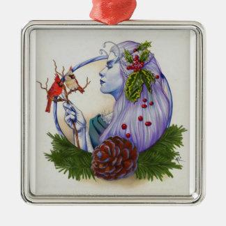 Winter Goddess Metal Ornament