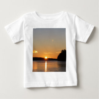 Winter Golden Sun Ray Reflects on Junior Lake Baby T-Shirt