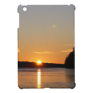 Winter Golden Sun Ray Reflects on Junior Lake iPad Mini Cases