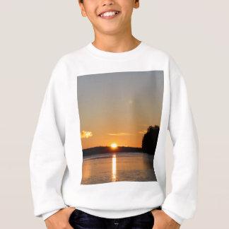Winter Golden Sun Ray Reflects on Junior Lake Sweatshirt