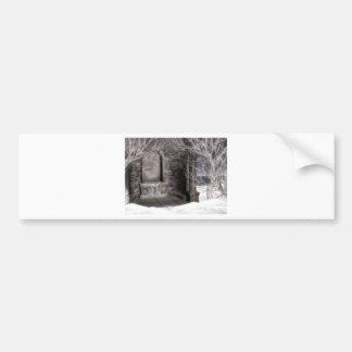 Winter Gothic Water Font Scene Bumper Sticker