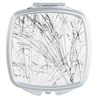 Winter Grass In Snow Compact Mirror