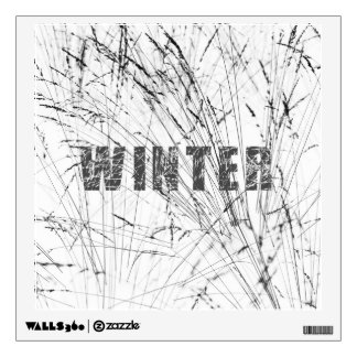 Winter Grass In Snow Wall Decal