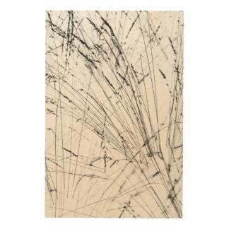 Winter Grass In Snow Wood Prints