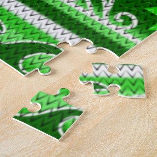 Winter Green Nordic Design Jigsaw Puzzle