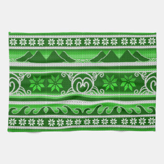 Winter Green Nordic Design Kitchen Towel