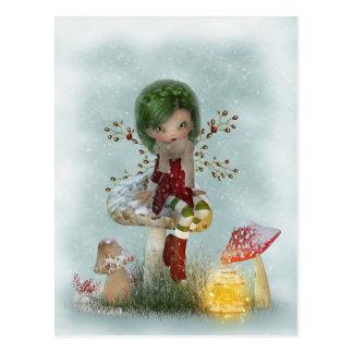 Winter Green Postcard