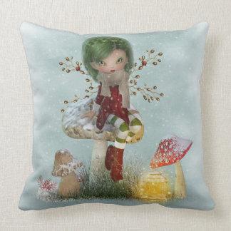 Winter Green Throw Pillow