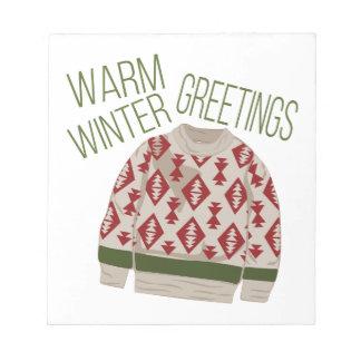 Winter Greetings Notepad