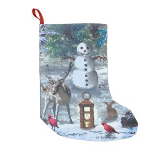 Winter Greetings Small Christmas Stocking