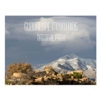 Winter, Guadalupe Peak, Guadalupe Mountains NP Postcard