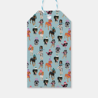 Winter Hat Coonhound Gift tags