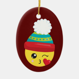 Winter Hat Emoji Christmas Ornament