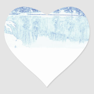 winter heart sticker